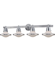 Picture for category Bathroom Vanity 4 Light With Polished Chrome Finish Opal White Medium Base 38 inch 240 Watts - World of Lamp