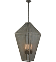 Picture for category Chandeliers 5 Light With Malted Rust Finish Metal Mesh Medium Base 18 inch 300 Watts - World of Lamp