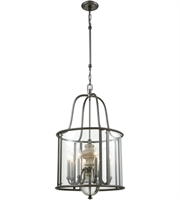 Picture for category Chandeliers 8 Light With Aged Black Nickel with Weathered Birch Finish Clear Crystal Candelabra 20 inch 480 Watts - World of Lamp
