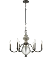 Picture for category Chandeliers 6 Light With Aged Black Nickel with Weathered Birch Finish Clear Crystal Candelabra 27 inch 360 Watts - World of Lamp