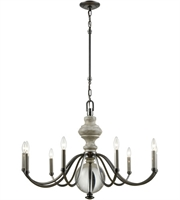 Picture for category Chandeliers 9 Light With Aged Black Nickel with Weathered Birch Finish Clear Crystal Candelabra 35 inch 540 Watts - World of Lamp