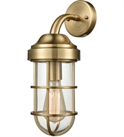 Picture for category Wall Sconces 1 Light With Satin Brass Finish Clear Medium Base 6 inch 60 Watts - World of Lamp