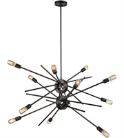 Picture for category Chandeliers 12 Light With Oil Rubbed Bronze Finish Medium Base 42 inch 720 Watts - World of Lamp