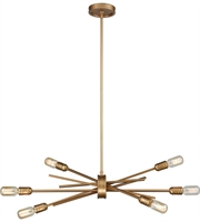 Picture for category Chandeliers 6 Light With Matte Gold Finish Medium Base 31 inch 360 Watts - World of Lamp