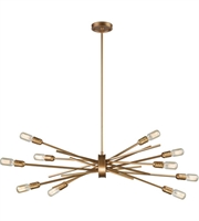 Picture for category Chandeliers 10 Light With Matte Gold Finish Medium Base 40 inch 600 Watts - World of Lamp
