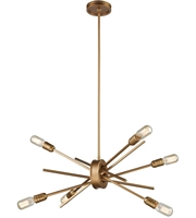 Picture for category Chandeliers 6 Light With Matte Gold Finish Medium Base 22 inch 360 Watts - World of Lamp