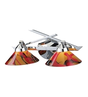 Picture for category Bathroom Vanity 2 Light With Polished Chrome Finish Jasper Glass G9 16 inch 80 Watts - World of Lamp