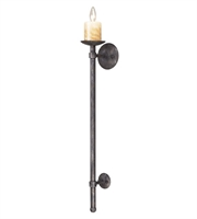 Picture for category Wall Sconces 1 Light With Moonlit Rust Finish Candelabra 5 inch 60 Watts - World of Lamp