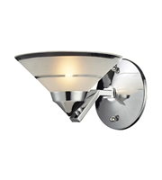 Picture for category Wall Sconces 1 Light With Polished Chrome Etched Clear Glass G9 7 inch 40 Watts - World of Lamp