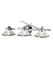 Picture for category Bath Lighting 3 Light With Polished Chrome Finish Etched Clear Glass G9 25 inch 120 Watts - World of Lamp