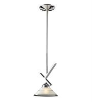 Picture for category Pendants 1 Light With Polished Chrome Finish Etched Clear Glass G9 7 inch 40 Watts - World of Lamp