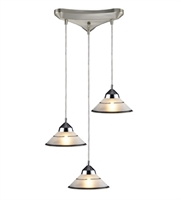 Picture for category Pendants 3 Light With Polished Chrome Finish Etched Clear Glass G9 10 inch 120 Watts - World of Lamp