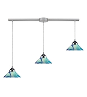 Picture for category Pendants 3 Light With Polished Chrome G9 Carribean Glass 36 inch 120 Watts - World of Lamp