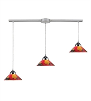 Picture for category Pendants 3 Light With Polished Chrome Finish Jasper Glass G9 36 inch 120 Watts - World of Lamp