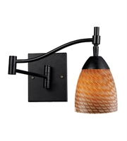 Picture for category Wall Sconces 1 Light With Dark Rust Finish Cocoa Glass Medium Base 22 inch 60 Watts - World of Lamp
