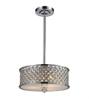 Picture for category Semi Flush 3 Light With Polished Chrome Finish Medium Base 16 inch 180 Watts - World of Lamp