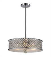 Picture for category Pendants 4 Light With Polished Chrome Finish Medium Base 21 inch 240 Watts - World of Lamp