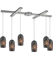 Picture for category Pendants 6 Light With Satin Nickel Finish Medium Base 33 inch 360 Watts - World of Lamp