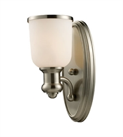 Picture for category Wall Sconces 1 Light With Satin Nickel Finish Medium Base 5 inch 100 Watts - World of Lamp