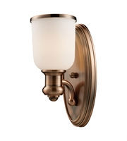 Picture for category Wall Sconces 1 Light With Antique Copper Finish Medium Base 5 inch 100 Watts - World of Lamp