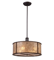 Picture for category Pendants 4 Light With Aged Bronze Finish Tan Mica Medium Base 18 inch 240 Watts - World of Lamp