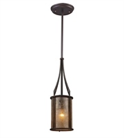 Picture for category Pendants 1 Light With Aged Bronze Finish Tan Mica Medium Base 6 inch 60 Watts - World of Lamp