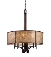 Picture for category Chandeliers 6 Light With Aged Bronze Finish Tan Mica Medium Base 24 inches 360 Watts - World of Lamp