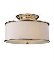 Picture for category Semi Flush 2 Light With Polished Nickel Finish Medium Base 14 inch 120 Watts - World of Lamp