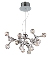 Picture for category Chandeliers 15 Light With Polished Chrome Finish Rainbow Glass G4 25 inch 300 Watts - World of Lamp