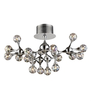 Picture for category Semi Flush 18 Light With Polished Chrome Finish Rainbow Glass G4 26 inch 180 Watts - World of Lamp