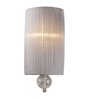 Picture for category Wall Sconces 1 Light With Antique Siler Finish Candelabra 7 inch 60 Watts - World of Lamp