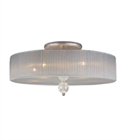 Picture for category Semi Flush 5 Light With Antique Silver Medium Base 3 inch 300 Watts - World of Lamp