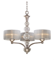 Picture for category Chandeliers 3 Light With Antique Silver Finish Medium Base 25 inch 180 Watts - World of Lamp