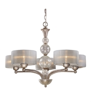 Picture for category Chandeliers 5 Light With Antique Silver Finish Medium Base 32 inch 300 Watts - World of Lamp