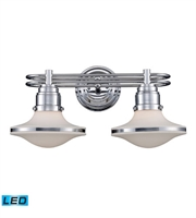 Picture for category Bathroom Vanity 2 Light LED With Polished Chrome Finish 18 inch 27 Watts - World of Lamp