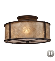 Picture for category Semi-Flush Mount 3 Light With Aged Bronze Tan Mica 13 inch 180 Watts - World of Lamp