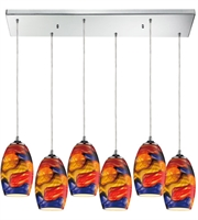 Picture for category Pendants 6 Light With Polished Chrome Finish Medium Base 33 inch 600 Watts - World of Lamp