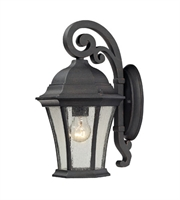 Picture for category Wall Sconces 1 Light With Weathered Charcoal Finish Medium Base 14 inch 100 Watts - World of Lamp