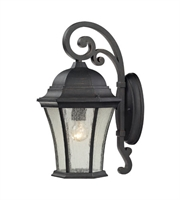 Picture for category Wall Sconces 1 Light With Weathered Charcoal Finish Medium Base 17 inches 100 Watts - World of Lamp