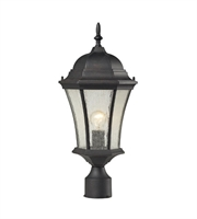 Picture for category Outdoor Post 1 Light With Weathered Charcoal Finish Medium Base 21 inch 100 Watts - World of Lamp