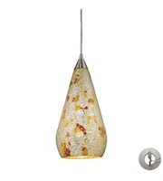 Picture for category Pendants 1 Light With Satin Nickel Silver Multi Crackle 6 inch 60 Watts - World of Lamp