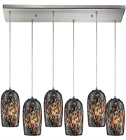 Picture for category Pendants 6 Light With Satin Nickel Finish Medium Base 30 inch 600 Watts - World of Lamp