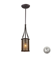 Picture for category Pendants 1 Light With Aged Bronze Tan Mica Medium Base 6 inch 60 Watts - World of Lamp