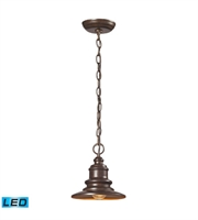 Picture for category Outdoor Pendant 1 Light LED With Hazelnut Bronze Finish 8 inch 13.5 Watts - World of Lamp