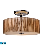 Picture for category Semi Flush 3 Light LED With Polished Chrome Finish 14 inch 40.5 Watts - World of Lamp