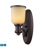 Picture for category Wall Sconces 1 Light With Oiled Bronze LED 800 Lumens 5 inch 13.5 Watts - World of Lamp