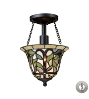Picture for category Semi Flush 1 Light With Tiffany Bronze Medium Base 8 inch 75 Watts - World of Lamp