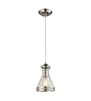 Picture for category Pendants 1 Light With Polished Nickel Finish Medium Base 7 inch 100 Watts - World of Lamp