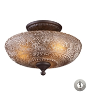 Picture for category Semi Flush 3 Light With Oiled Bronze Finish Medium Base 14 inch 225 Watts - World of Lamp