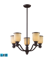 Picture for category Chandeliers 5 Light LED With Oiled Bronze Finish 25 inch 67.5 Watts - World of Lamp